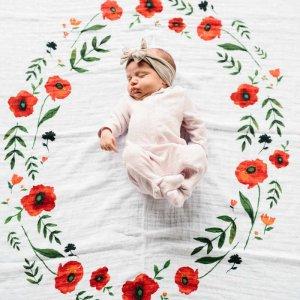 Deka na fotenie mušelínová Summer Poppy