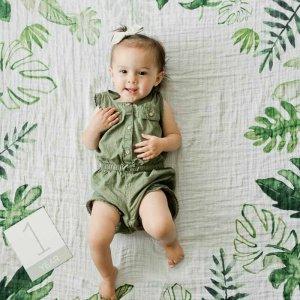 Deka na fotenie mušelínová tropical leaf