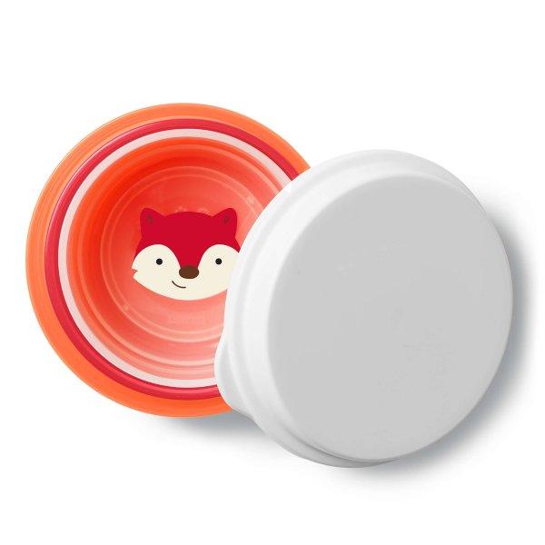 Zoo misky protišmykové 3 kusy + vrchnák - Líška