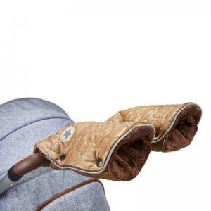 rukavice deluxe zlata presev hneda