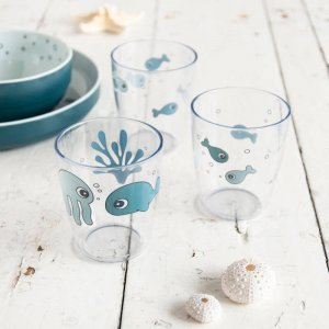 Mini poháriky 3ks- Sea Friends