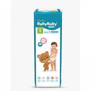 Detské plienky Ultra Dry Junior 44ks Baby Baby Soft 1
