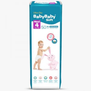 Detské plienky Ultra Dry maxi 50ks Baby Baby Soft 1
