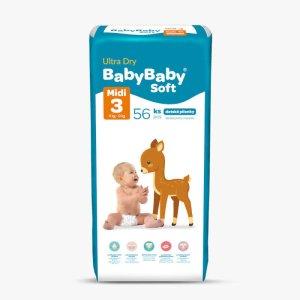 Detské plienky Ultra Dry midi 56ks Baby Baby Soft 1